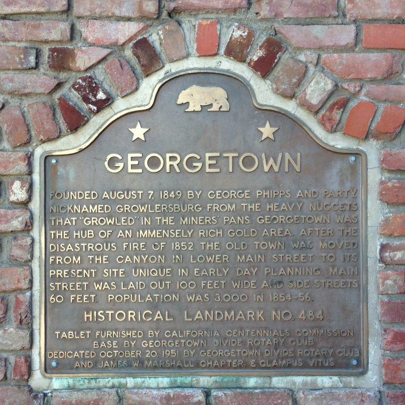 NO. 484 GEORGETOWN - State Plaque
