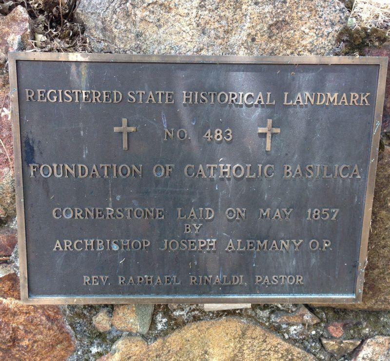 NO. 483 FATHER RINALDI'S FOUNDATION OF 1856 - Private Plaque