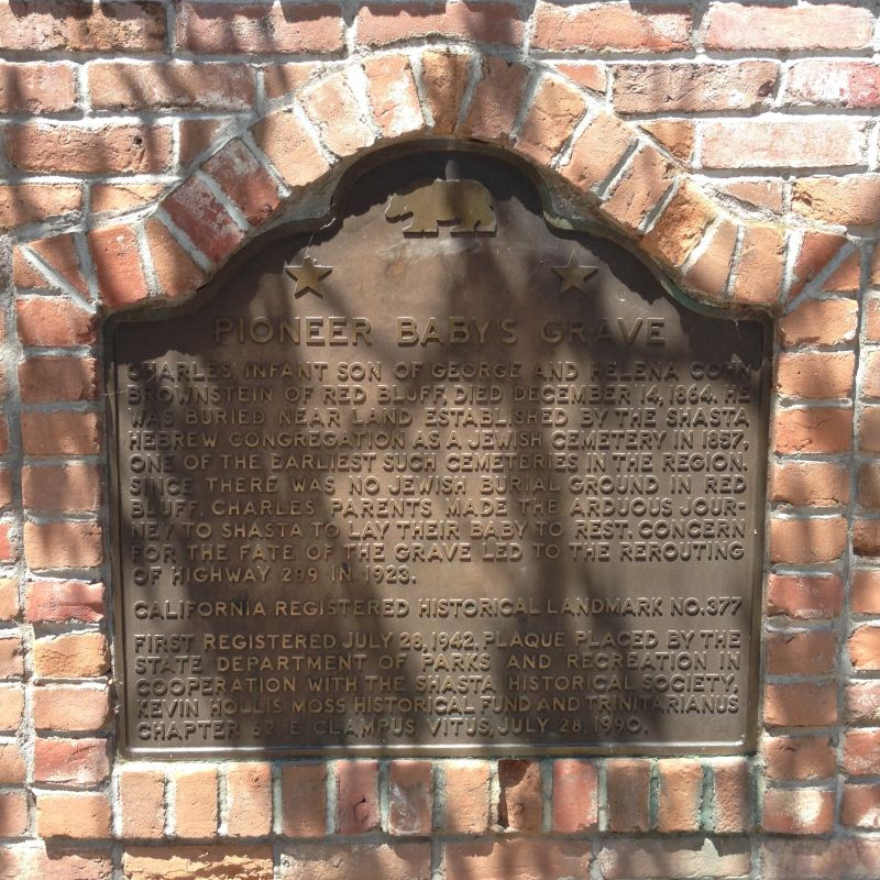 NO. 377 PIONEER BABY'S GRAVE -  State Plaque