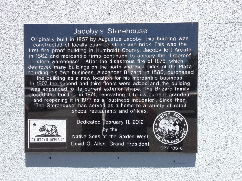 NO. 783 JACOBY BUILDING - Jacoby Building Plaque