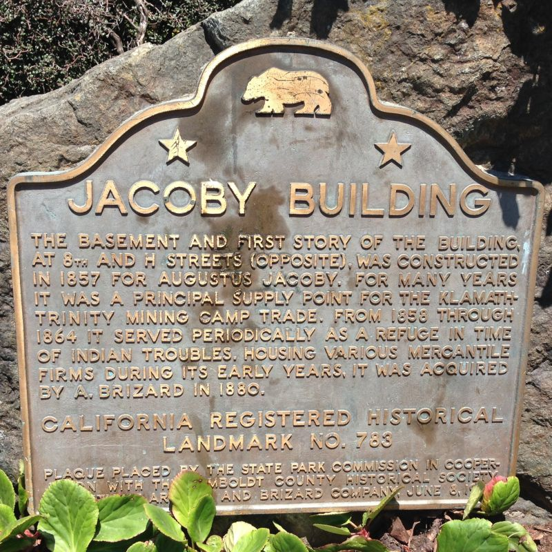 NO. 783 JACOBY BUILDING - State Plaque