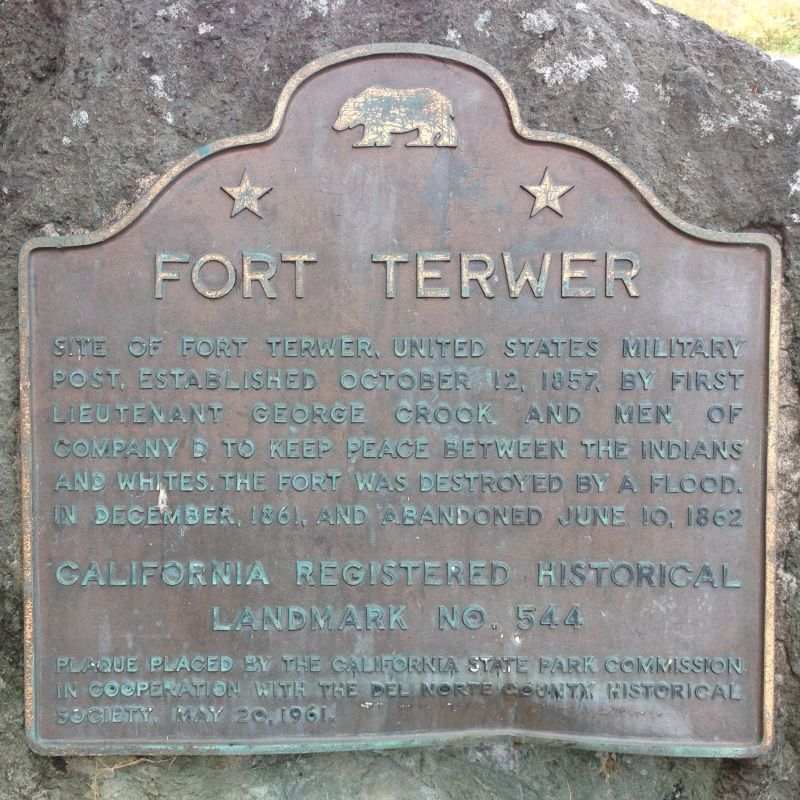 NO. 544 FORT TER-WER - State Plaque