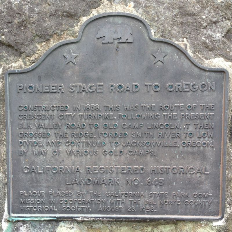 CHL No. 645 PIONEER STAGE ROAD TO OREGON - State Plaque