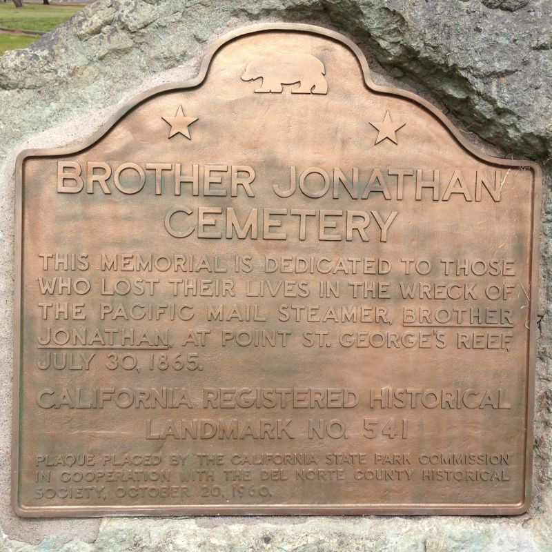 NO. 541 BROTHER JONATHAN CEMETERY - State Plaque