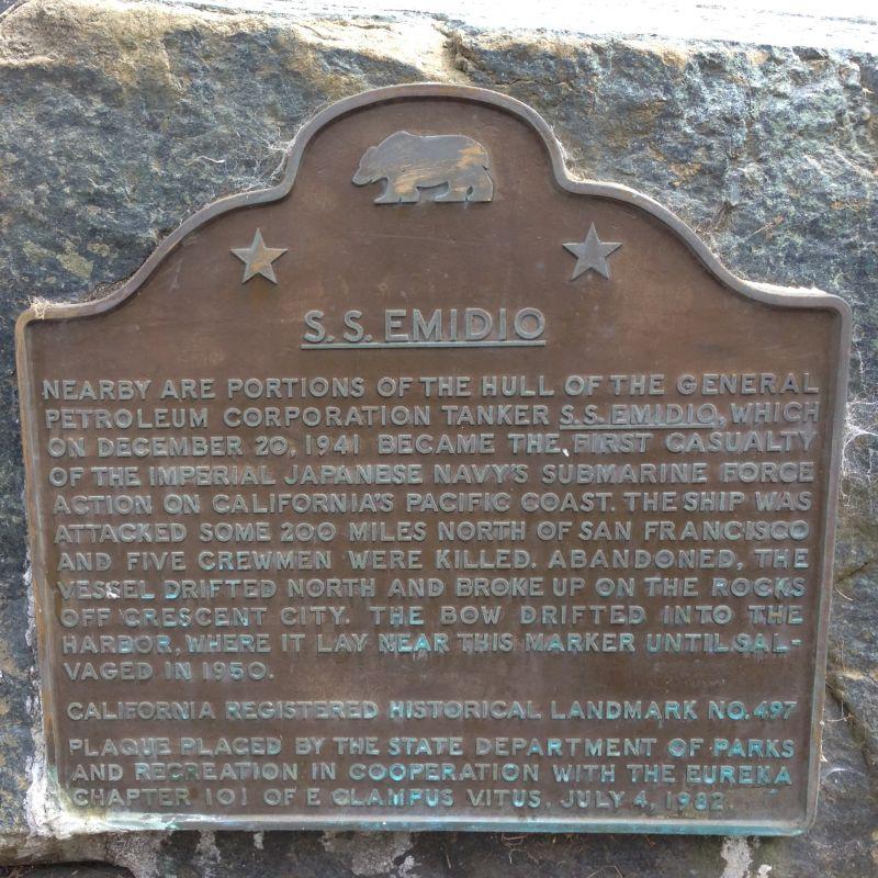 NO. 497 S.S. EMIDIO - State Plaque