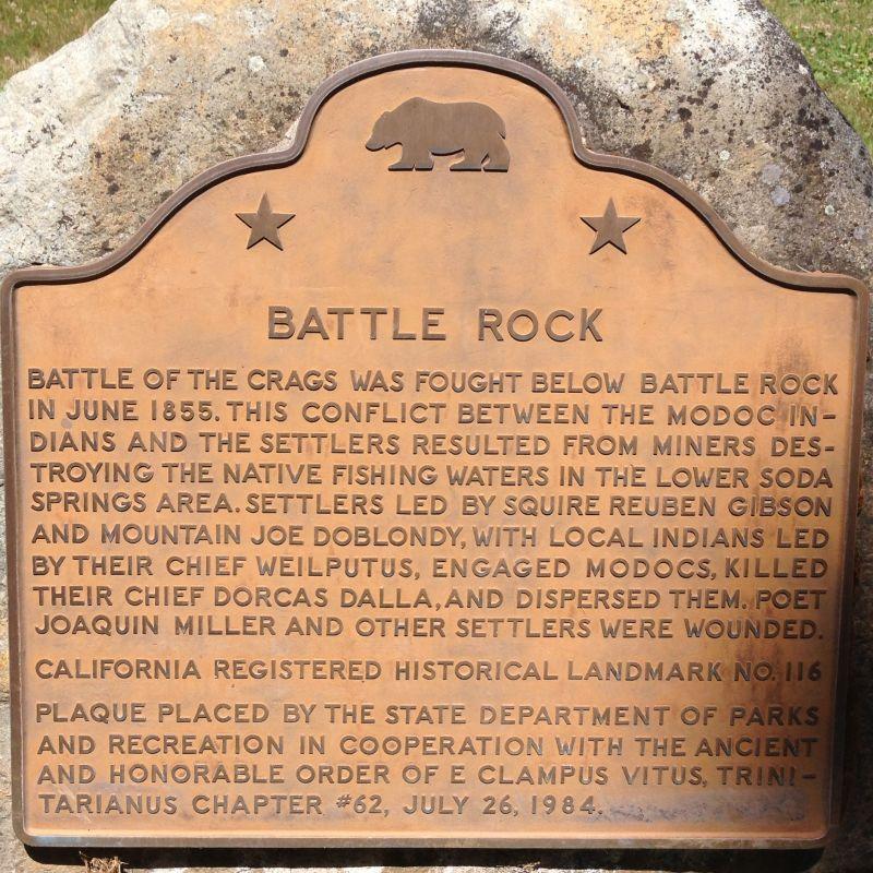 NO. 116 BATTLE ROCK - State Plaque