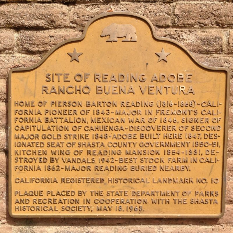 NO. 10 READING ADOBE - State Plaque on site