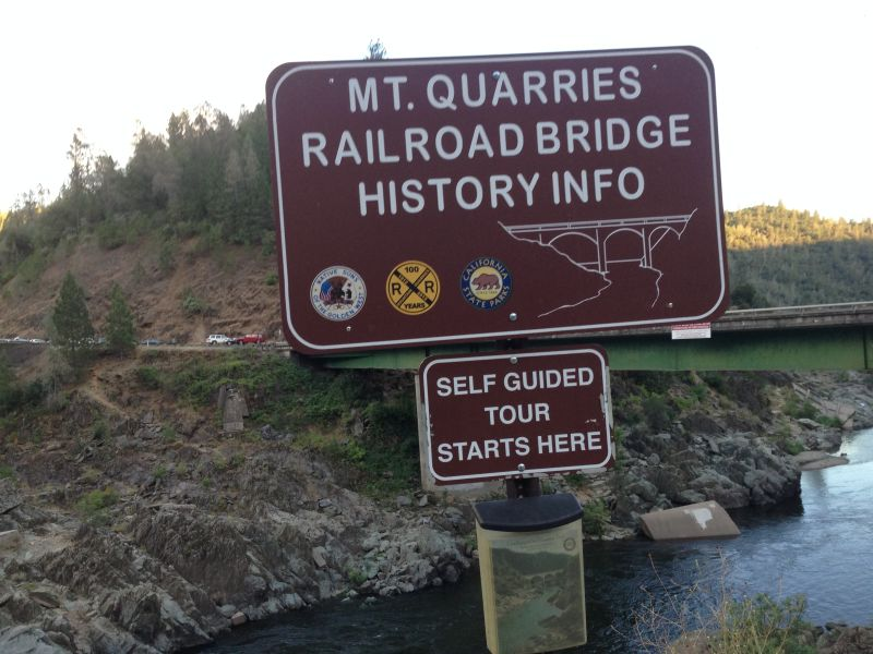 No. 1051 Mountain Quarries Railroad Bridge  (Placer side)