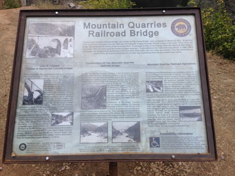 No. 1051 Mountain Quarries Railroad Bridge - (Placer)