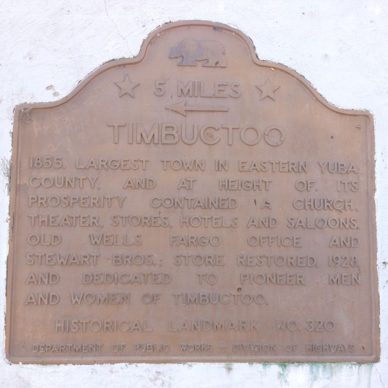 NO. 320 TIMBUCTOO - State Plaque