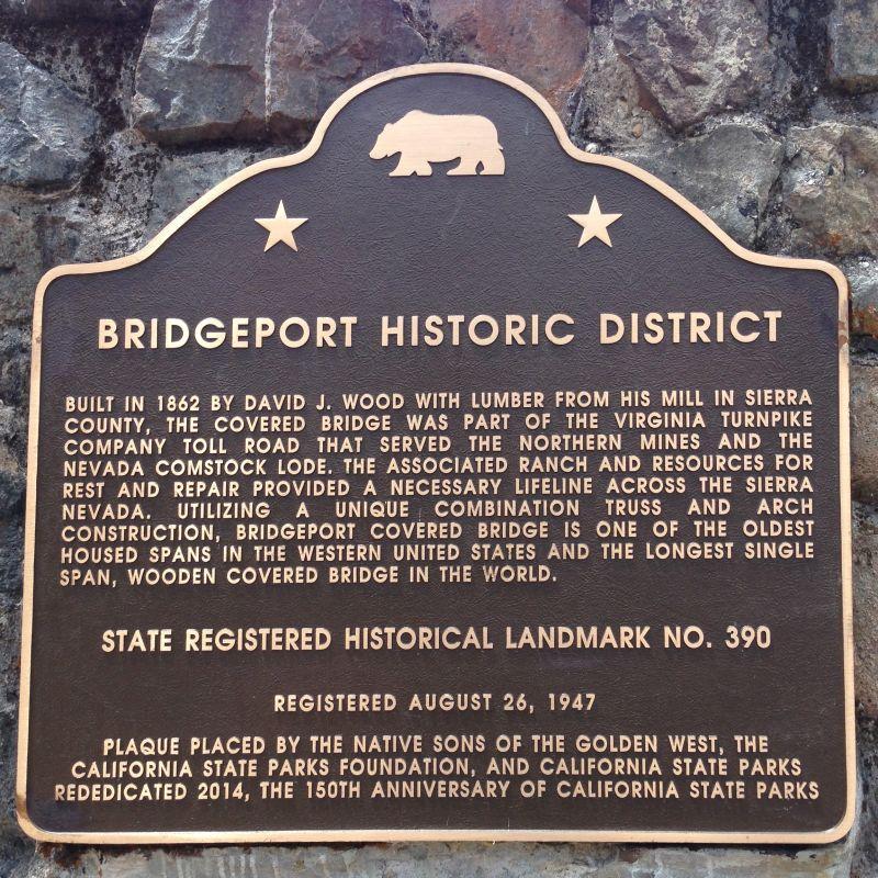 NO. 390 BRIDGEPORT (NYES CROSSING) COVERED BRIDGE -