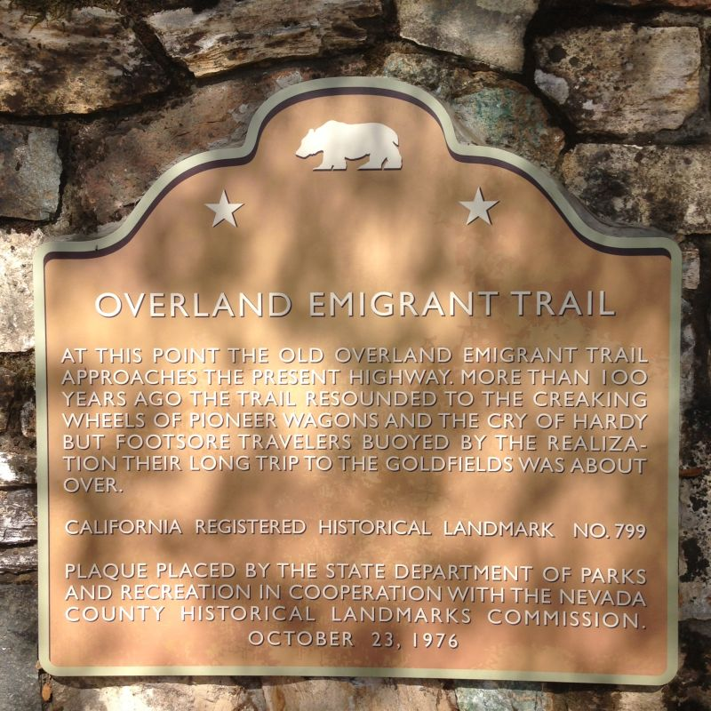 NO. 799 OVERLAND EMIGRANT TRAIL - State Plaque