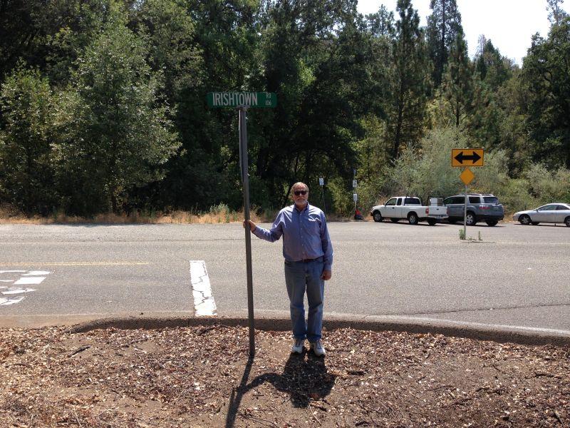 NO. 38 IRISHTOWN - Street Sign