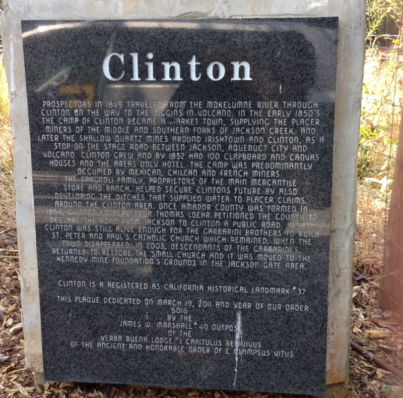 NO. 37 CLINTON - Plaque