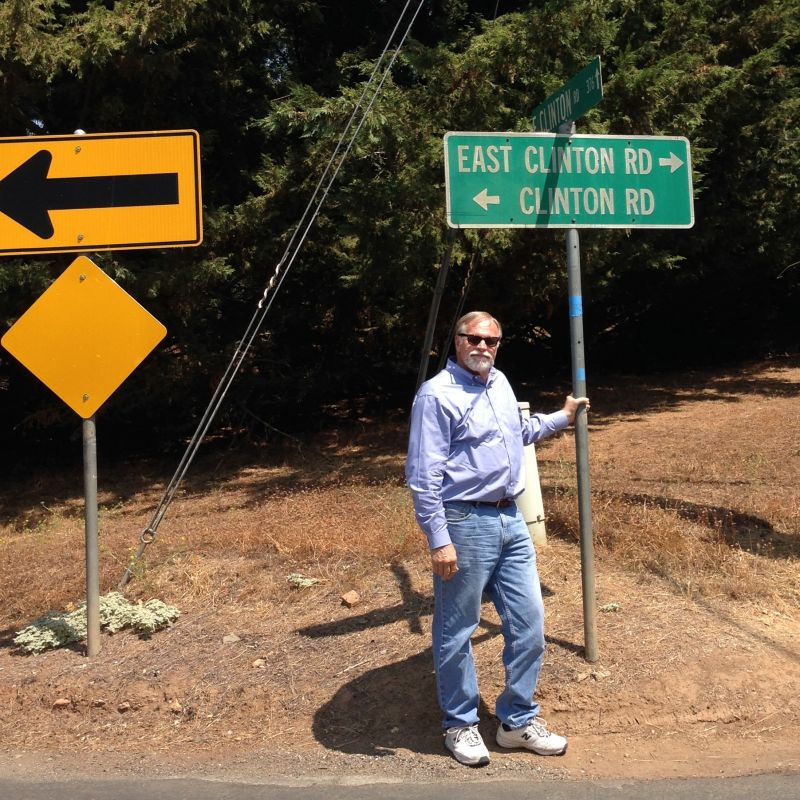 NO. 37 CLINTON - Location Street Sign