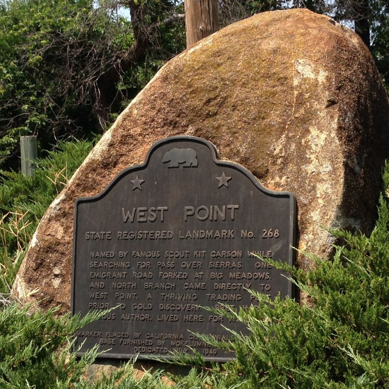 NO. 268 WEST POINT - State Plaque