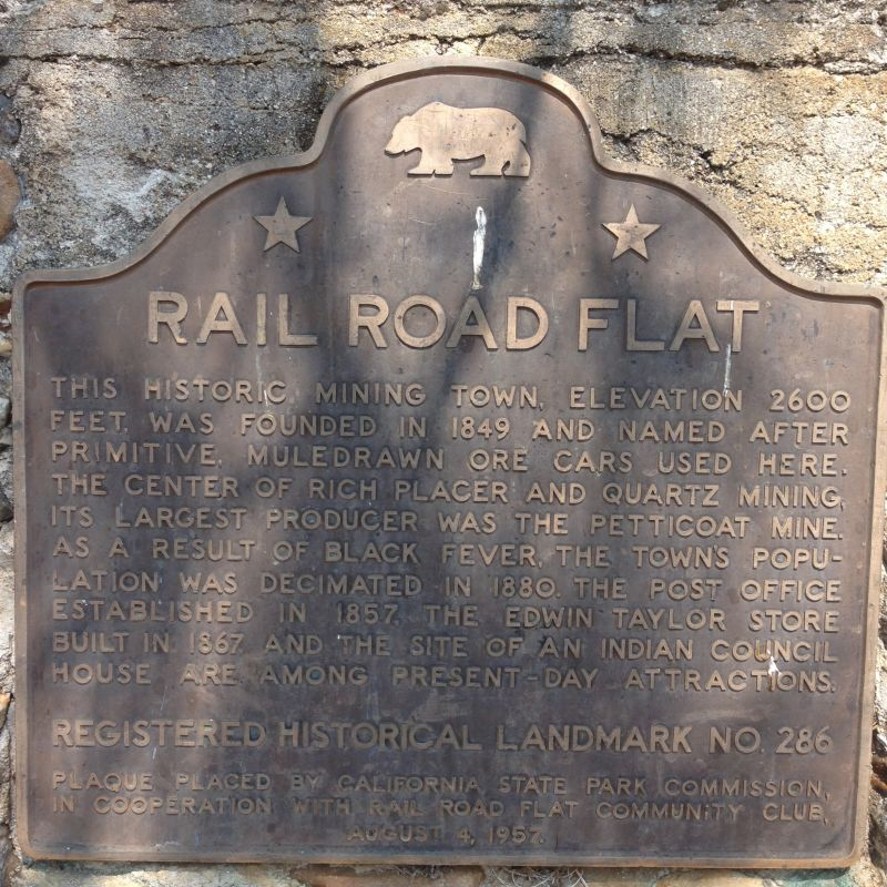 NO. 286 RAIL ROAD FLAT - State Plaque