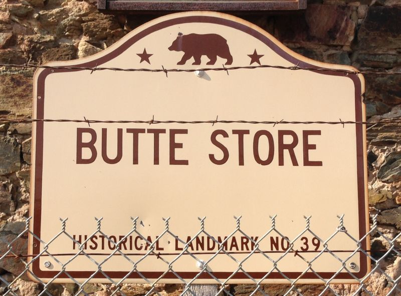 NO. 39 BUTTE STORE - Sign