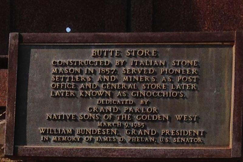 NO. 39 BUTTE STORE - Private Plaque