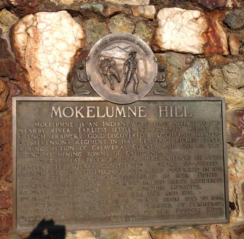 NO. 269 MOKELUMNE HILL - Private Plaque