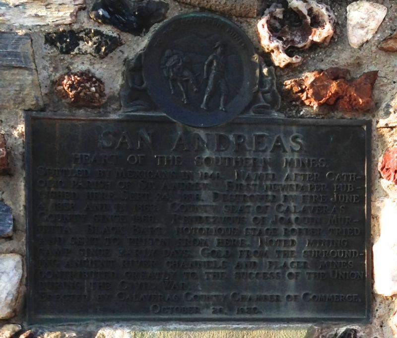 NO. 252 SAN ANDREAS - Plaque