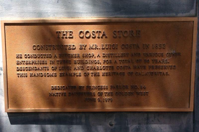 NO. 255 CALAVERITAS - Plaque, The Costa Store