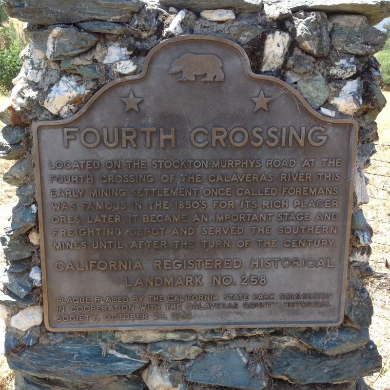 NO. 258 FOURTH CROSSING - State Plaque