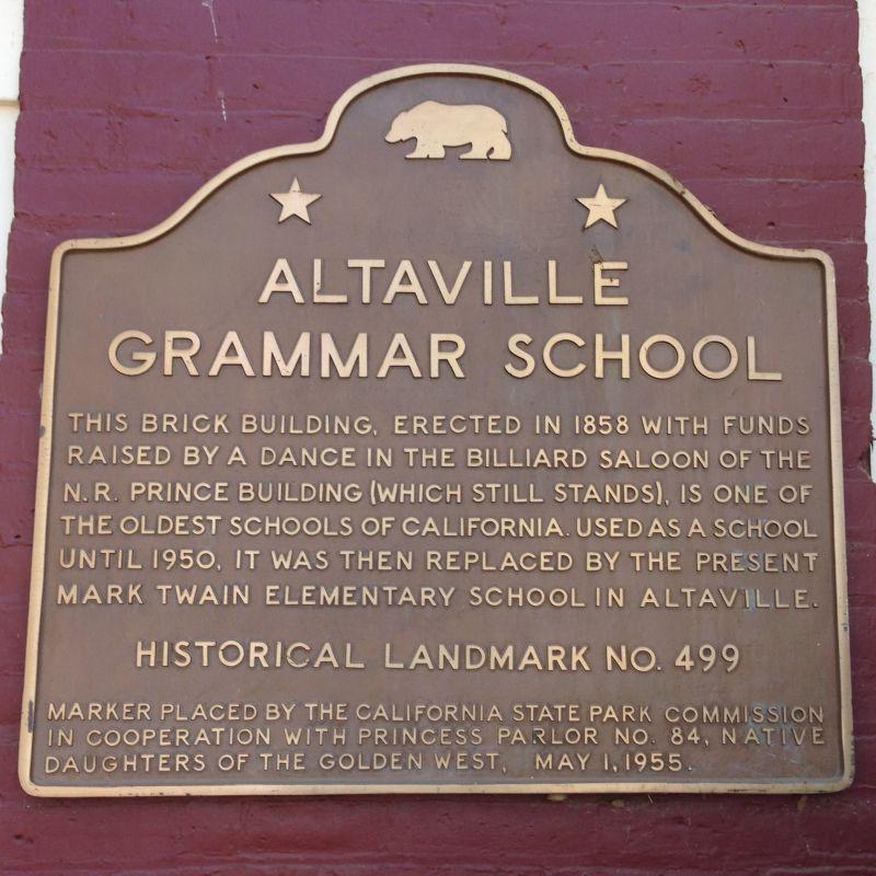 NO. 499 RED BRICK GRAMMAR SCHOOL - State Plaque