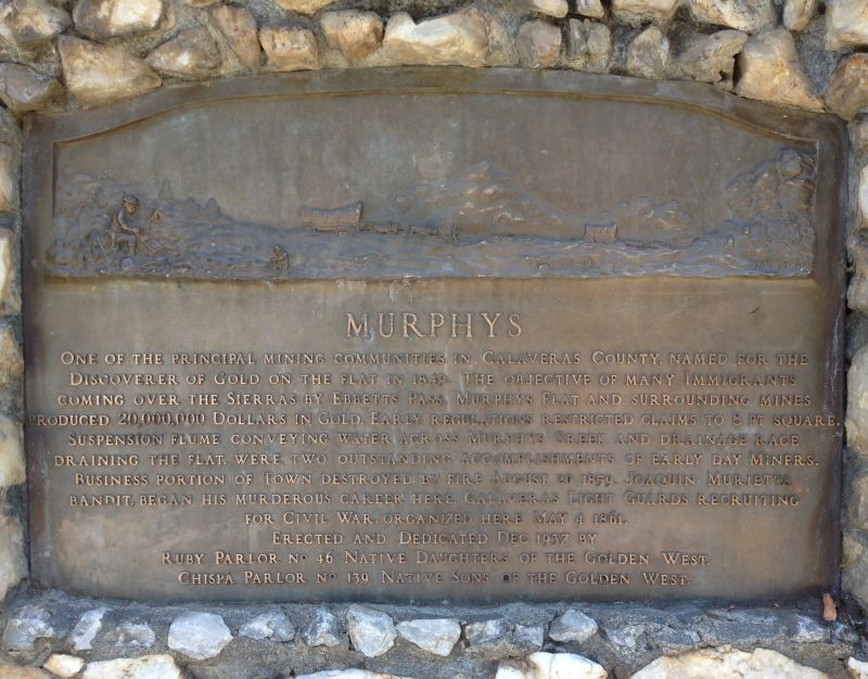 NO. 275 MURPHYS - Plaque