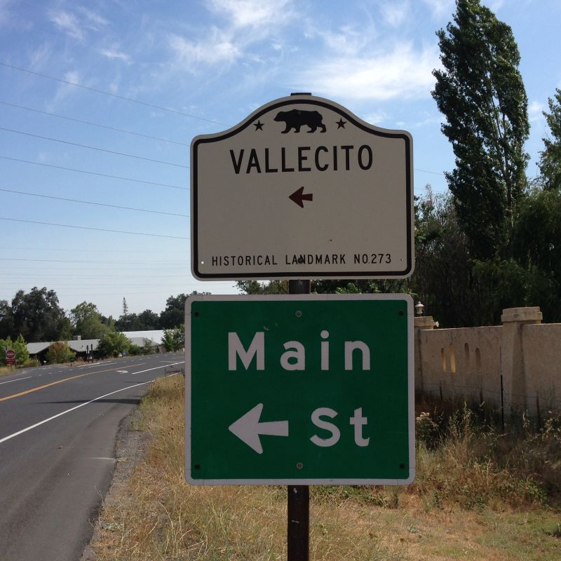 NO. 273 VALLECITO - State Sign