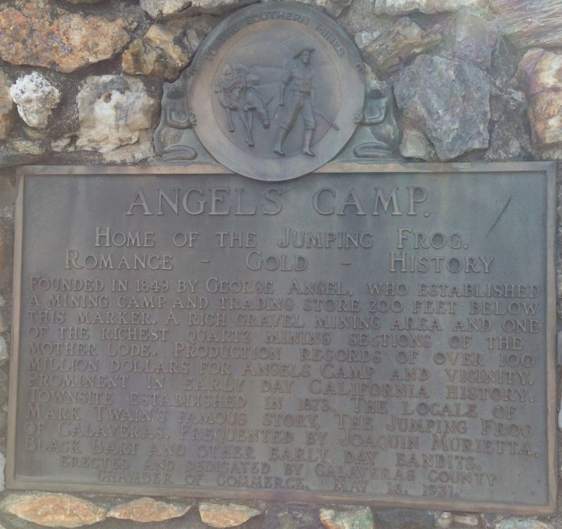 NO. 287 ANGELS CAMP - Private Plaque
