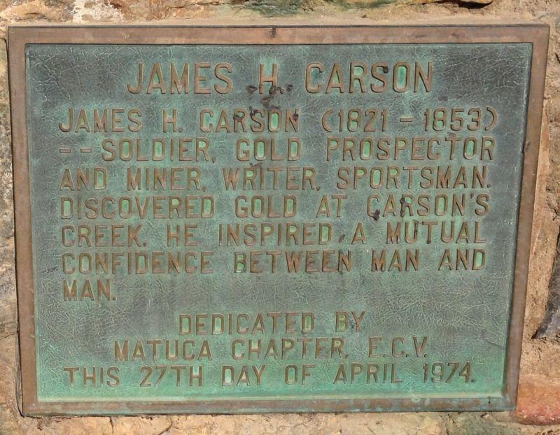 NO. 274 CARSON HILL - Private Plaque