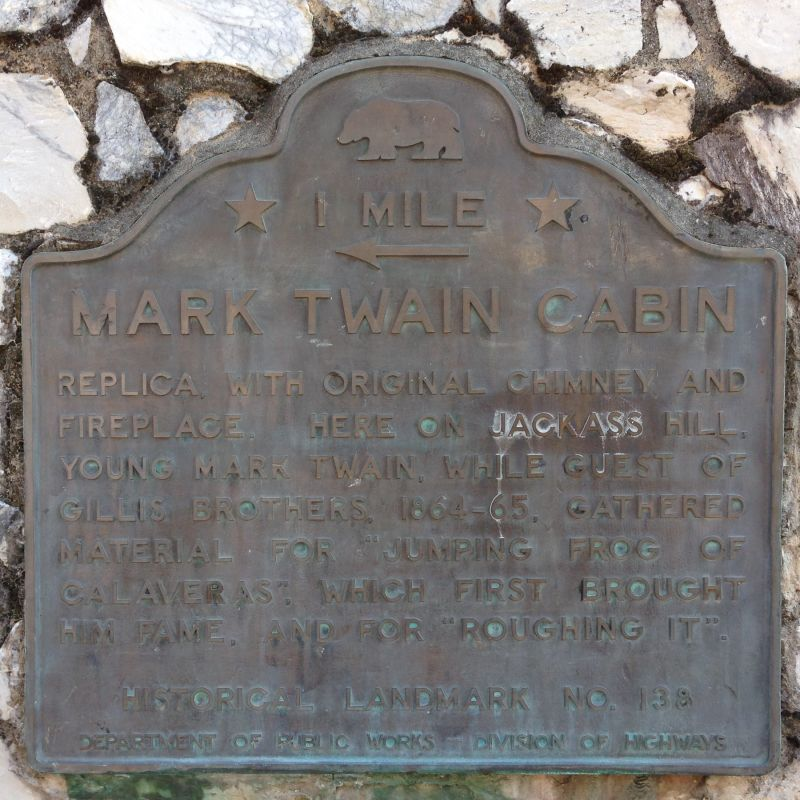 NO. 138 MARK TWAIN CABIN - First State Plaque