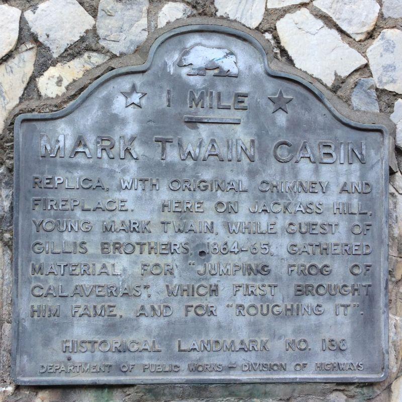 NO. 138 MARK TWAIN CABIN - Second State Plaque