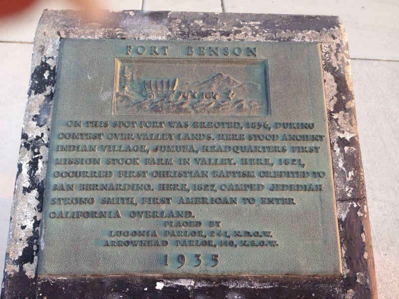 NO. 617 FORT BENSON - Plaque