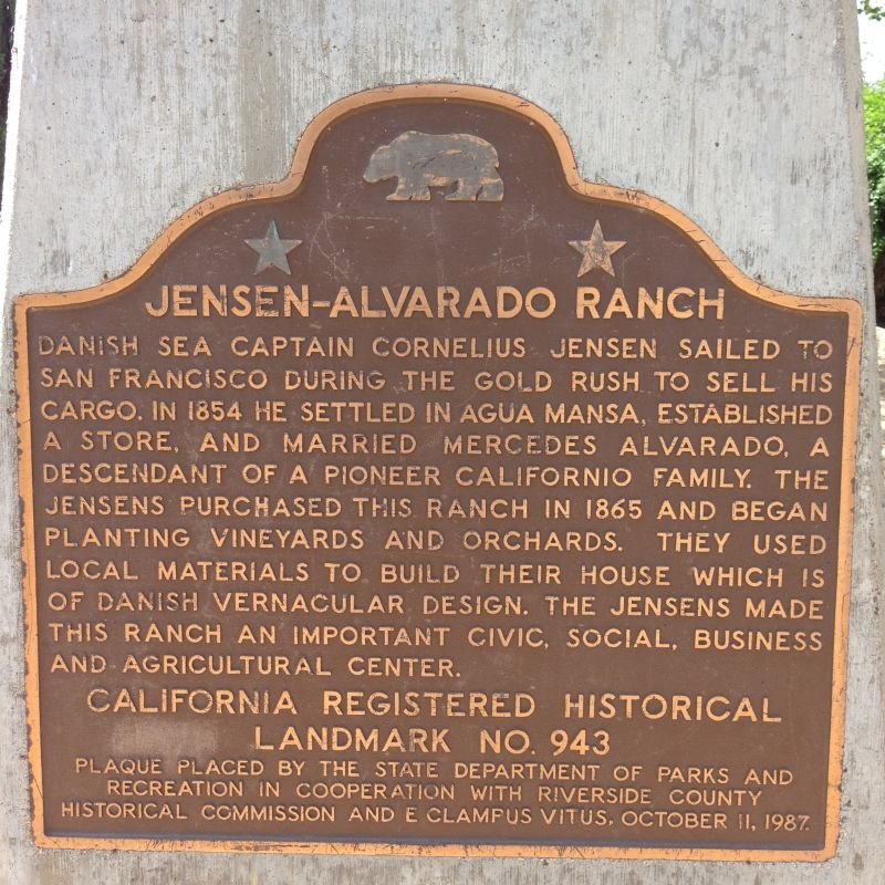 NO. 943 JENSON RANCH - State Plaque