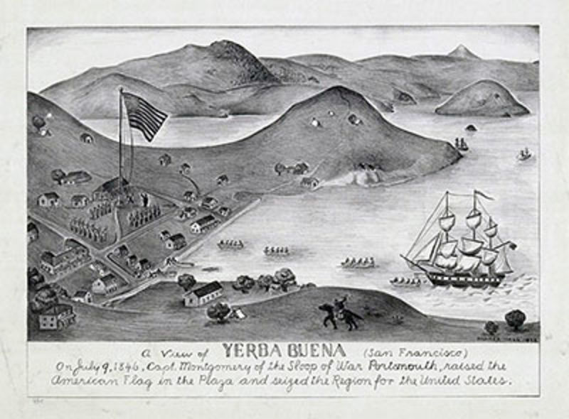 NO. 81 LANDING PLACE OF CAPTAIN J. B. MONTGOMERY -Yerba Buena