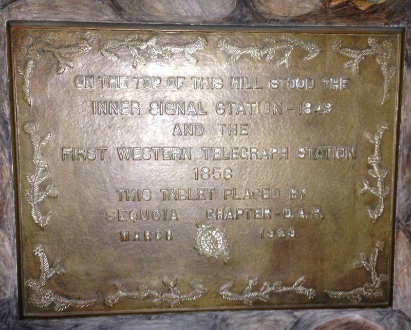 NO. 91 TELEGRAPH HILL - Telegraph Hill Plaque