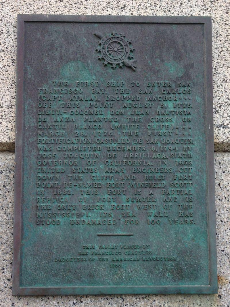 NO. 82 SITE OF CASTILLO DE SAN JOAQUÍN - PRIVATE PLAQUE