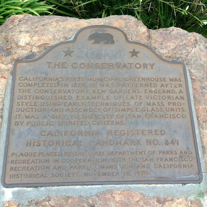 NO. 841 THE CONSERVATORY – State Plaque
