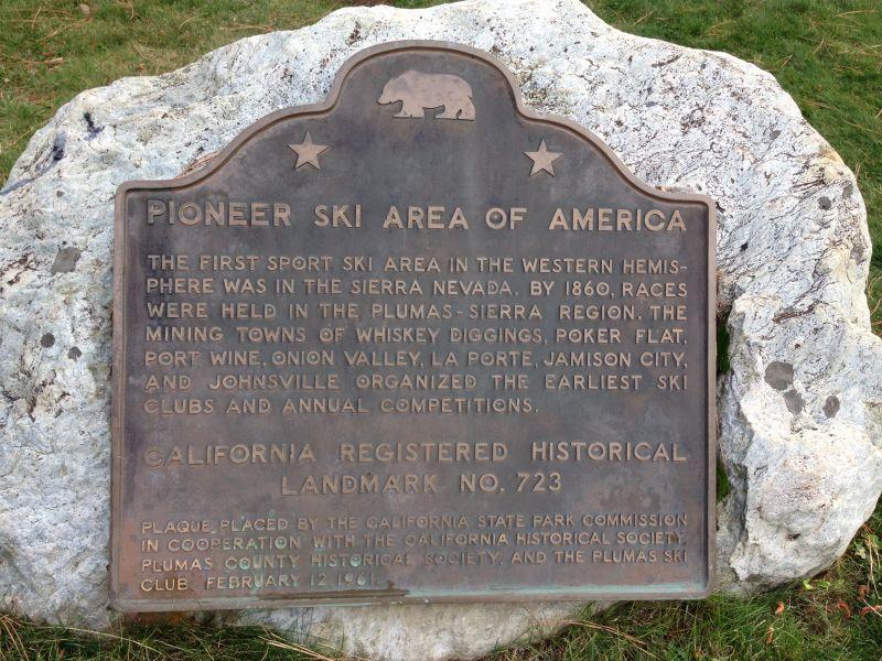 NO. 723 PIONEER SKI AREA OF AMERICA, JOHNSVILLE - State PLAQUE