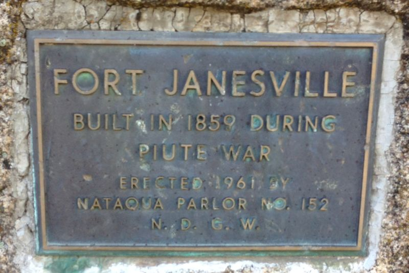 NO. 758 FORT JANESVILLE - Private Plaque