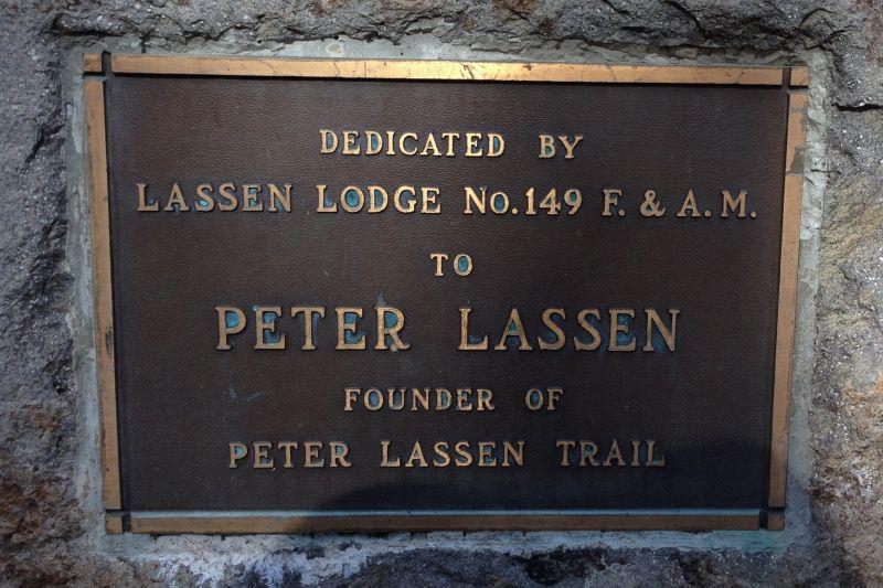 NO. 565 PETER LASSEN GRAVE - Private Plaque