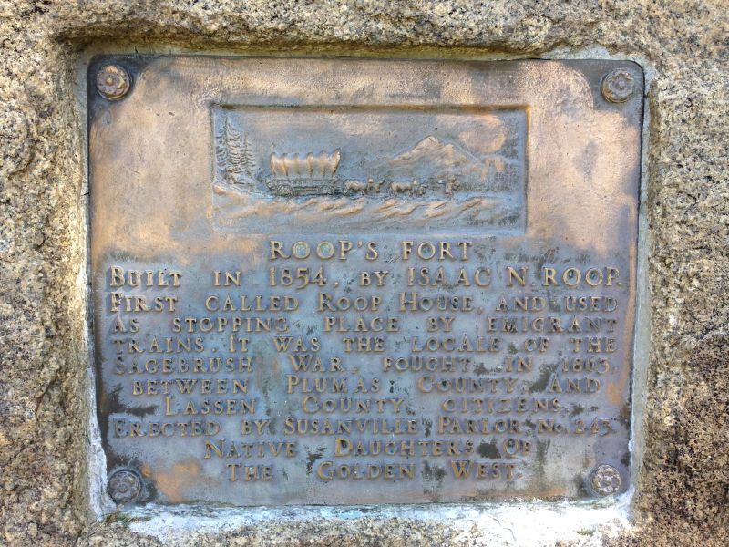 NO. 76 ROOP'S FORT - Private Plaque