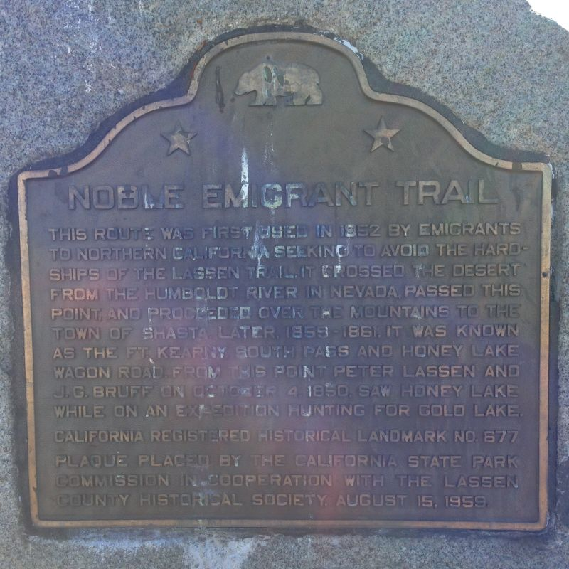 NO. 677 NOBLE EMIGRANT TRAIL - State Plaque