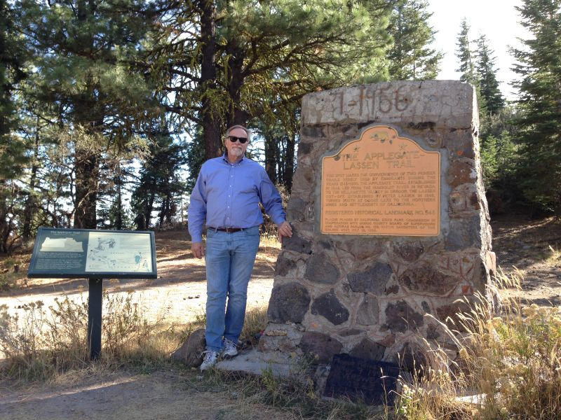 NO. 546 APPLEGATE-LASSEN EMIGRANT TRAIL (FANDANGO PASS) - Marker