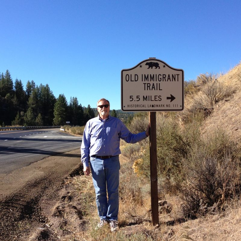 NO. 111 OLD EMIGRANT TRAIL - State Street Sign