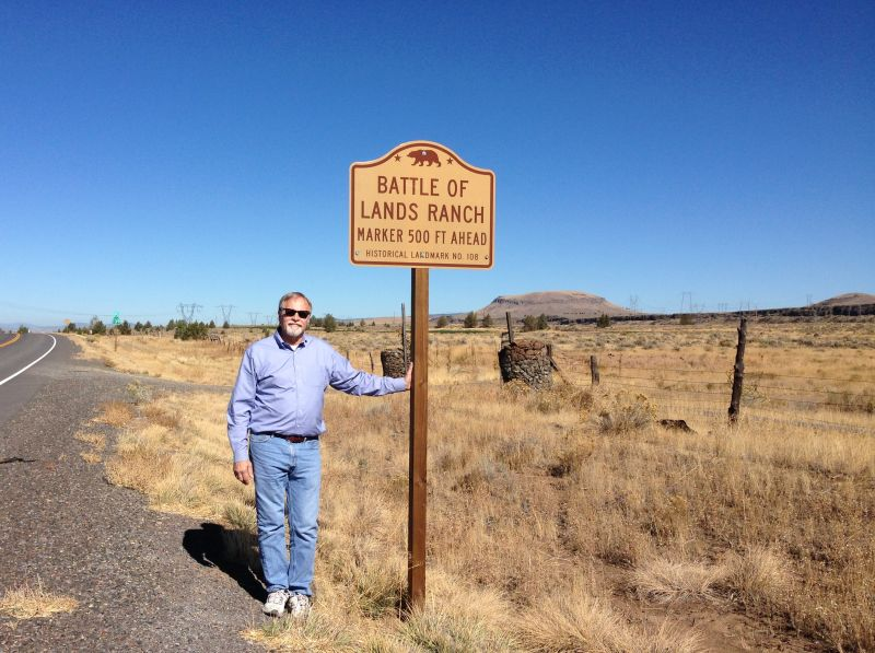 NO. 108 BATTLE OF LAND'S RANCH- State Street Sign