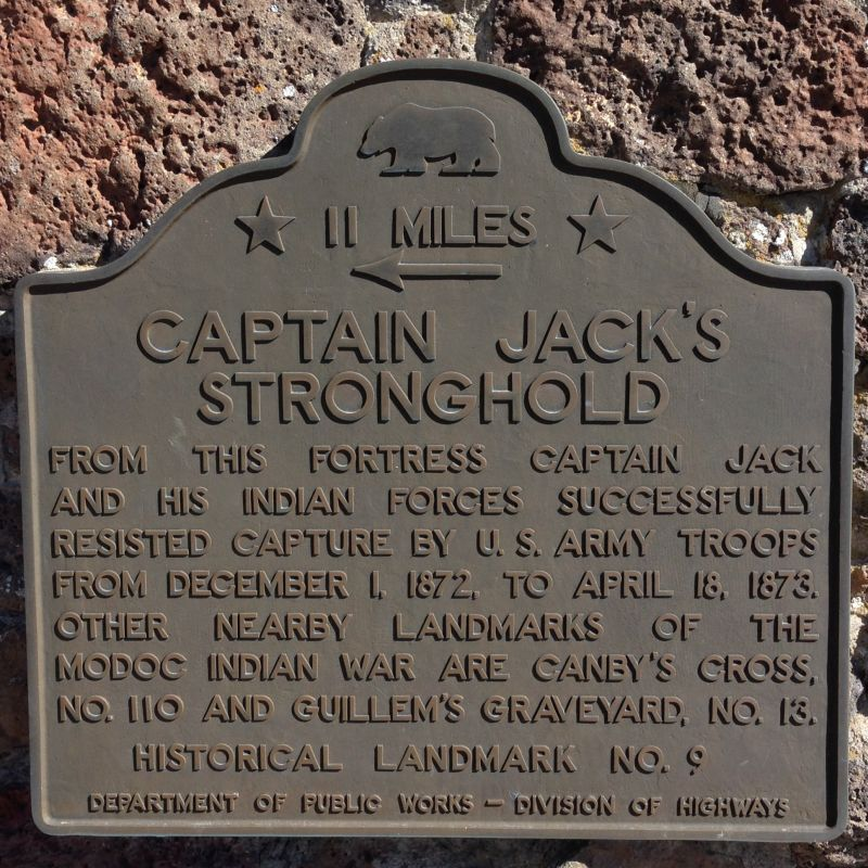 NO. 9 CAPTAIN JACK'S STRONGHOLD - First State Plaque
