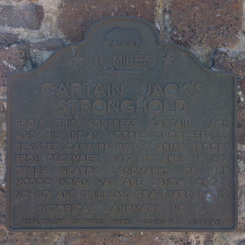 NO. 9 CAPTAIN JACK'S STRONGHOLD - Second State Plaque